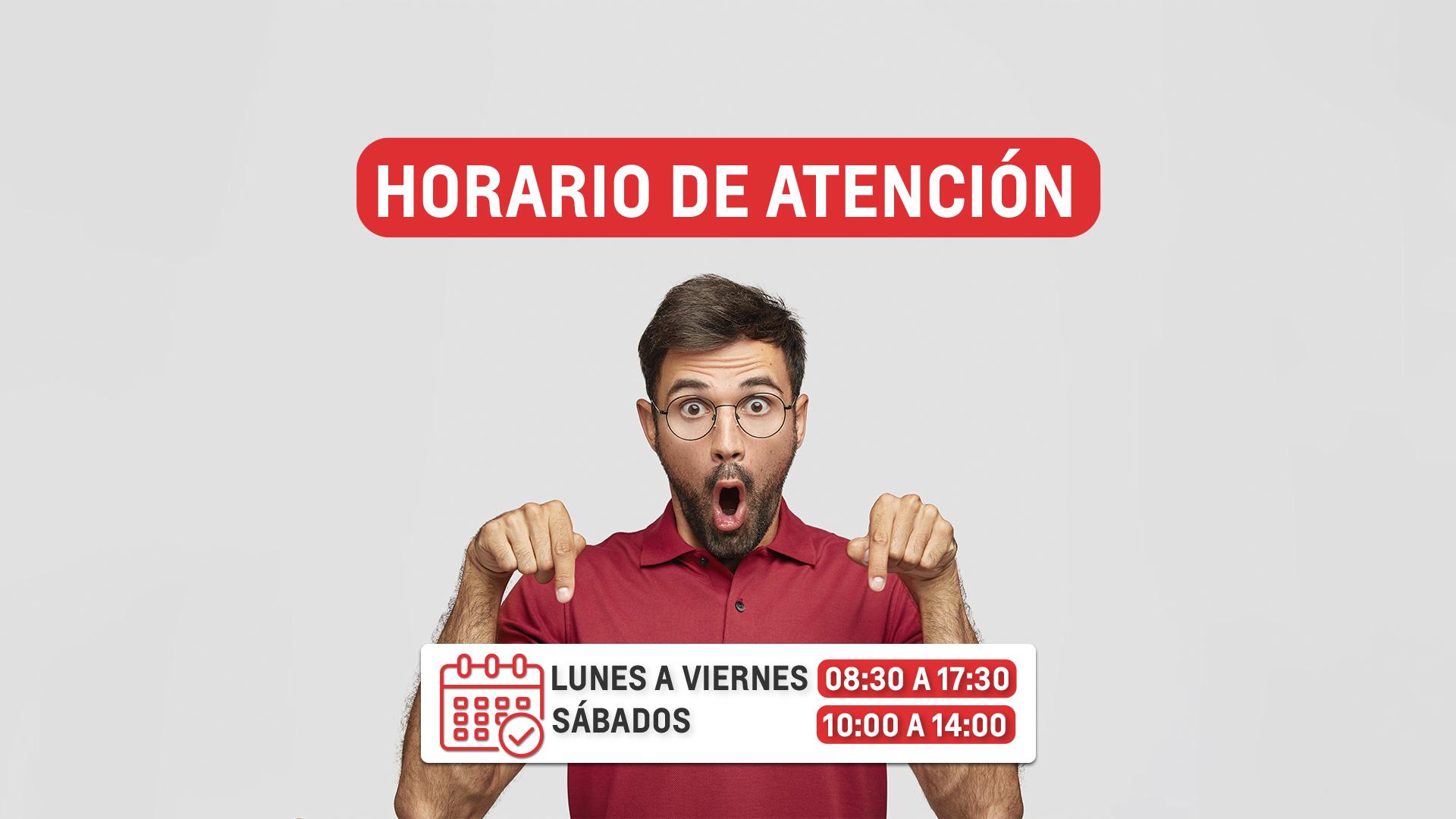 HORARIO DE ATENCIÓN BANNER WEB